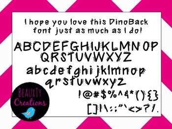 """""""DinoBack"""" Font by BeauxTy Creations"""