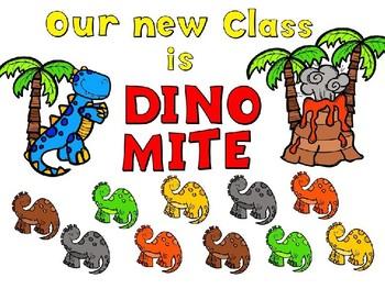 DinoMite Dinosaur Bulletin Board Set - Editable