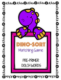 DinoSORT Sight Word Matching Game (Pre-Primer)