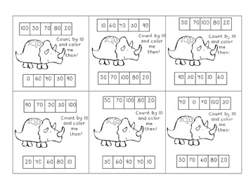 Dinopunchin! punch cards to build skip counting fluency