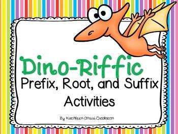 """Dinoriffic"" Prefix, Root, and Suffix Activities"