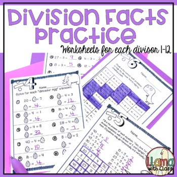 Dinos Dig Division: Division Facts Practice