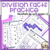 Division Facts Practice For Divisors 1-10