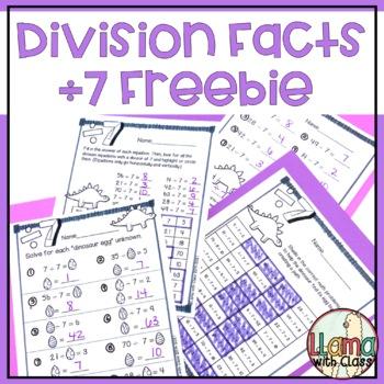 Dinos Dig Division Freebie: Divide by 7