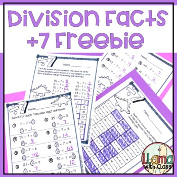 Divide by 7 FREEBIE