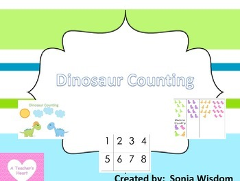 Dinosaur Counting File Folder/Memory Activity