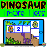 Dinosaur 1 More 1 Less with Boom Cards