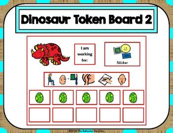Dinosaur 10 Token Board 2 with Behavior Visuals