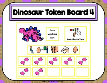 Dinosaur 10 Token Board 4 with Behavior Visuals