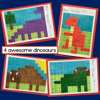 Dinosaur 120 Chart Mystery Pictures