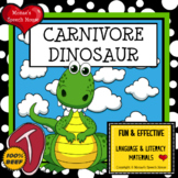 Dinosaur Rhyme Early Reader Literacy Circle PRE-K  Speech Therapy