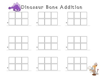 Dinosaur 3-Digit Regrouping Activities