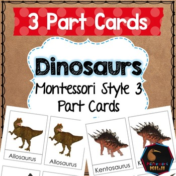 Dinosaur 3 Part Cards