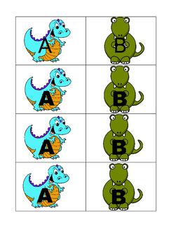 Dinosaur A/B partner cards