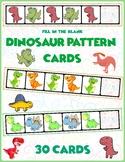 Dinosaur AB Pattern Cards | 30 Cards