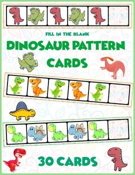 Dinosaur AB Pattern Cards   30 Cards
