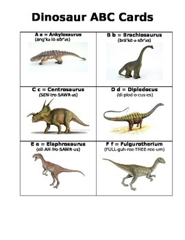 Dinosaur ABC Cards