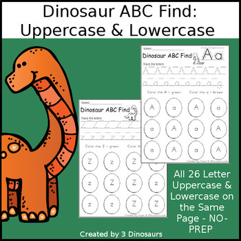 Dinosaur ABC Letter Find: Uppercase & Lowercase