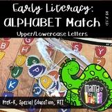 Early Literacy File Folder Game, Alphabet Match, Dinosaur Prints