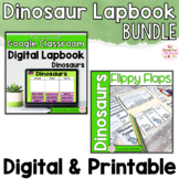 Dinosaur Activities Interactive Notebook Digital and Print