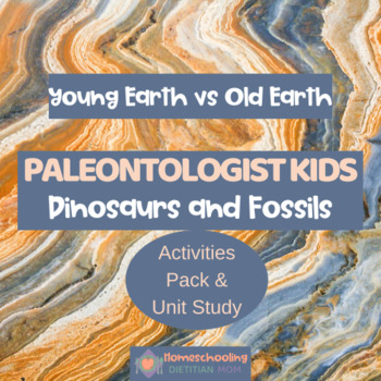 Dinosaur Activities and Fossils Worksheet Unit Study - Middle School Science