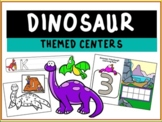 Dinosaur Themed Literacy and Math Centers