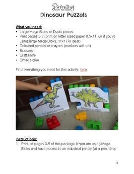 Dinosaur Activity Pack for Preschool and Kindergarten