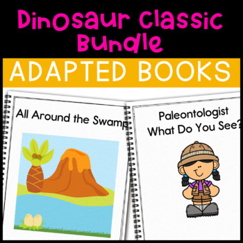 Dinosaur Adapted Book Bundle: 2 Dinosaur Adapted Books for Special Education