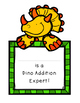10 Page Dino Addition-Up to 10, Differentiated Practice, Common Core