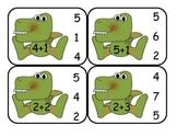 Dinosaur  Addition Clip Card Math Center