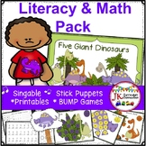 Dinosaur Song & Literacy and Math Activities Packet