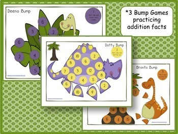Dinosaur Song & Literacy and Math Activities Packet