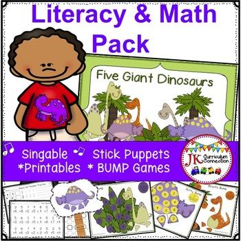Dinosaur Literacy & Math Packet