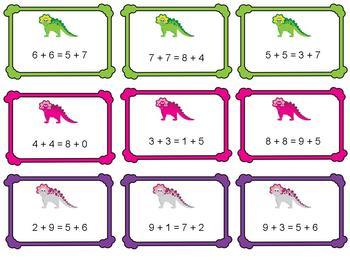 Dinosaur Addition With Sums Up to 20
