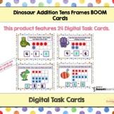 Dinosaur Addition With Tens Frames BOOM Cards - Digital Ta