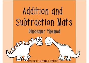 Dinosaur Addition and Subtraction Mats
