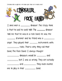 Dinosaur Adjectives ONLY Mad Lib