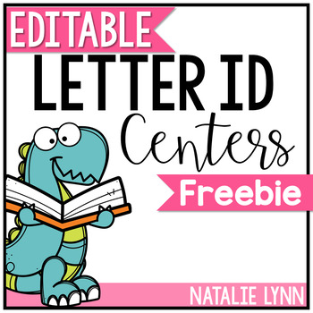 Dinosaur Alphabet Center: Editable Letter ID Center