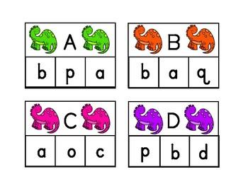 Dinosaur Alphabet Clip Cards