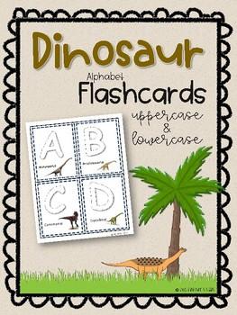 Dinosaur Alphabet Flashcards
