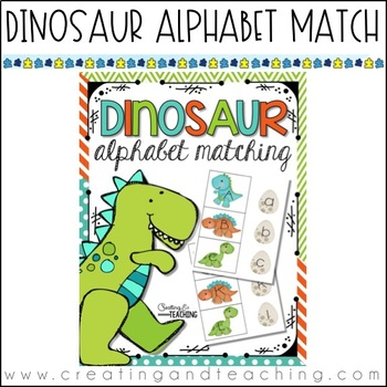 Dinosaur Alphabet Match {Updated 3/2015}