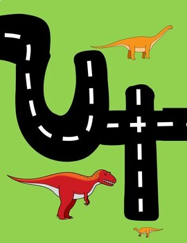 Dinosaur Alphabet Road