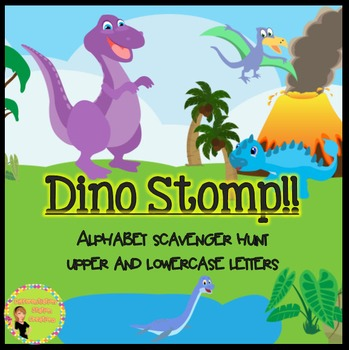 Dinosaur Alphabet Scavenger Hunt