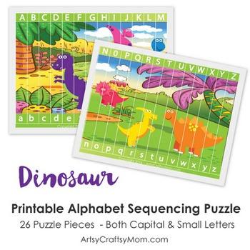 Dinosaur Alphabet Sequencing Puzzle