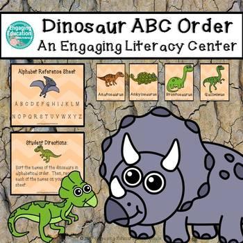 Dinosaur Alphabetical Order Literacy Center Activity