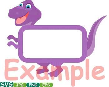 Dinosaur Animal Chalk board Frames clip art wood zoo school Labels animals 216as