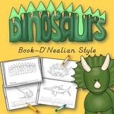 Dinosaur Animals Book for Kindergarten and 1st Grade {D'Nealian Style}