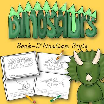 Dinosaur Animals Book for Kindergarten and 1st Grade {D'Ne