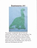 Dinosaur Art:  Brontosaurus Project