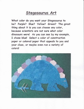 Dinosaur Art:  Stegosaurus Project
